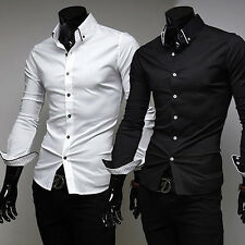 New Arrival Men's Long Sleeve Turn Down Collar Casual Slim Fit Shirt Remarkable