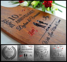 Personalised Anniversary Wedding 10th 20th 25th 30 40 50th Gift Cutting Board