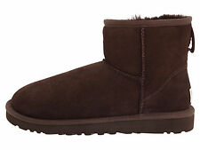 New Women UGG AUSTRALIA Boot Classic Mini Chocolate Suede/sheepskin 5854