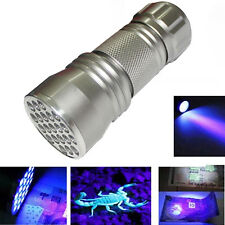 NEW UV Ultra Violet 21 LED Flashlight Mini Blacklight Aluminum Torch Light Lamp