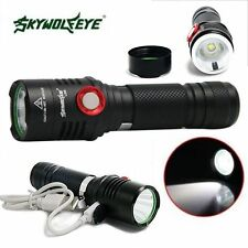 5000LM CREE XM-L2 T6 LED USB Rechargeable Flashlight Super Brigh Zoom Torch Lamp