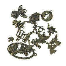 Antique Steampunk Key Hearts Assorted Pendants Charms Jewelry Making Findings