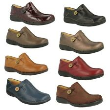 UN LOOP LADIES CLARKS UNSTRUCTURED LEATHER SLIP ON CUSHIONED FLAT SLIP ON SHOES