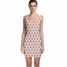 Cute Cupcakes Tight Fitted Bodycon Dresses - Size & Sleeve Options