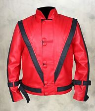 Michael Jackson Thriller Mens Red  Genuine / Faux Leather Jacket - ALL SIZES