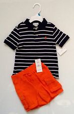 NEW WITH TAG RALPH LAUREN POLO BABY BOY TWO PIECE SET