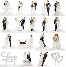 WEDDING CAKE TOPPERS DECORATION BRIDE GROOM GIFT PRESENT NOVELTY DANCER PARTY