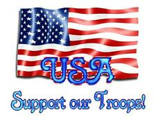 Custom Made T Shirt Support Our Troops USA Flag America Patriotic United States