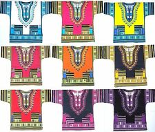 New AU Shirt Dashiki Mexican African Jungo Hippie Boho Blouse vintage tribal Wom