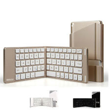 Mini Collapsible Foldable Wireless Metal Bluetooth Keyboard For Pad Tablet Phone