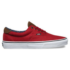 "Vans ""Cord & Plaid Era 59"" Sneakers (Red Dahlia) Men's Classic Skateboard Shoes"