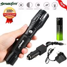 5000LM CREEE XM-L T6 LED Rechargeable Flashlight Torch Lamp AC Battery Charger