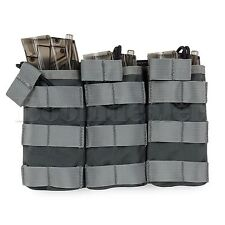 Molle Triple Stacker 5.56 Magazine MAG Pouch Bag Holder Bungee Straps For M4/M16