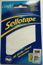 NEW Sellotape Sticky Fixers - Double-sided Permanent Foam Pads - Quantity Choice