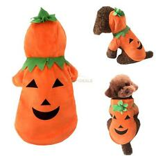 1PCS Puppy Dog Pumpkin Pooch Halloween Costume Clothes Knit Sweater Hoodie Coat