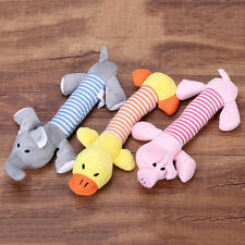 1 Pc Dog Toy Pet Puppy Plush Sound Chew Squeaker Squeaky Pig Elephant Duck Toys