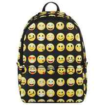 Emoji School Backpack Kids Smiley Mood Expressions Classic Girls Boys Book Bag