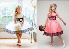 Flower Girl Dress Princess Vintage Special Occasion Party Wedding Lace Size 2-7