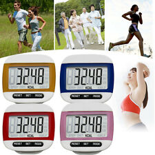 Mini LCD Digital Step Pedometer Walking Calorie Counter Walk Run Belt Clip Gift
