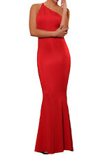 Red Prom Long Dress with Low Cut-out Back women sexy evening gown  US warehouse