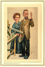 Leslie Matthew Ward, Pierre Curie and Marie Sklodowska Curie, Lithograph