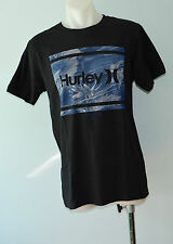 Hurley Mens Printed T Shirt - BLACK - SIZE - MEDIUM  - NEW