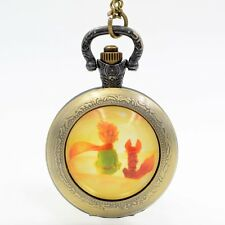 The little Prince Quartz Pocket Watch Analog Pendant Necklace Chain Boys Girls