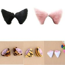 Halloween Cosplay Fancy Party Cat Fox Long Fur Ear Costume Hair Clip Orecchiette