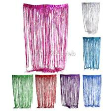 2/3m Christmas Party Metallic Fringe Foil Shimmer Curtain Birthday Decoration