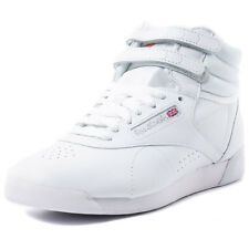 Reebok Freestyle Hi Womens Trainers White New Shoes