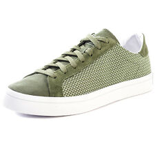 adidas Courtvantage Mens Trainers Green New Shoes