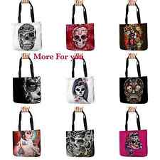 Day of the Dead Sugar Skull Tattoo Mexican Shoulder Purse Tote Bag Shopping