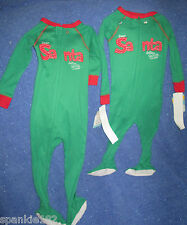 CARTER'S CHRISTMAS DEAR SANTA FOOTED PAJAMAS NWT 12 MONTH