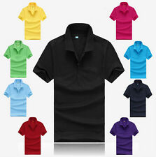 Polo Tee Men's Casual Hot Slim Fit Short Sleeve T Shirt Cotton Sports T Shirt