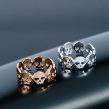 New Style Unisex Skulls Rings Crystal Boho Rings Skull Chic Ring Fashion Jewelry