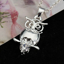 Fashion Accessories Crystal Silver Plated Necklace Pendant Jewelry for Women