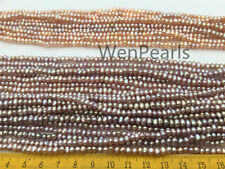 AA 4mmx4.5-5mm Lavender Potato Genuine Freshwater Pearls Loose Bead,Pink Pearl