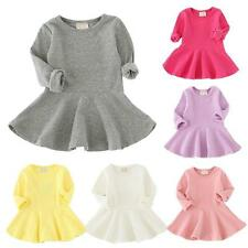 Girls Toddler Baby Kids Autumn Clothes Long Sleeve Party Princess Tutu Dresses
