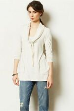 Anthropologie Roundtrip Cowlneck S, Light Gray Slouchy Jersey Tunic Top, Dolan