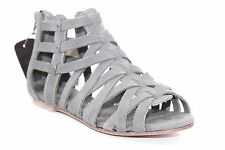 CATERPILLAR WEAVEMENT RAW COLLECTION GREY SUEDE GLADIATOR 7-9