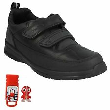 REFLECTACE BOYS KIDS CLARKS FORMAL LEATHER RIPTAPE TRAINERS SCHOOL SHOES SIZE