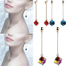 Fashion Charm Long Multicolor Crystal Jewelry Big Hot Earrings Stones Drop Pop
