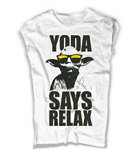 Women's T-shirt YODA SAYS RELAX FRANKIE GOES TO HOLLYWOOD