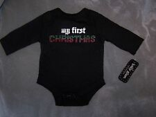 Baby Glam My First Christmas Onesie Creeper Bodysuit ~ NWT