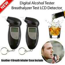 2X LCD Police Digital Breath Alcohol Analyzer Tester Breathalyzer Audiable AU
