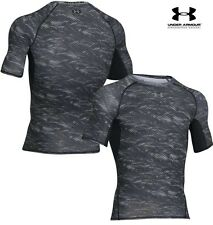 Under Armour Mens HeatGear® Armour Printed SS Compression Shirt - 1257477-005