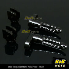 FOR Triumph Speed Triple 955i 2000-2004 Multi Step Adjustable Front Foot Pegs