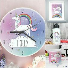 Personalised Any Name & Message Unicorn Card & Gifts for Birthday Christmas