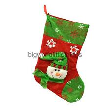 Christmas Stocking Lovely Santa Claus & Snowman Popular Splicing Pattern Socks