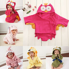 New Animal Cartoon Baby Kids Hooded Blanket Bathrobe Toddler Boy Girl Bath Towel